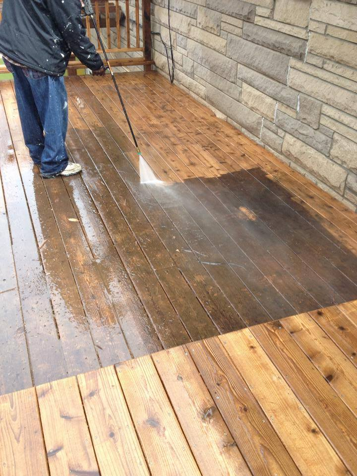 Deck Pressure Cleaning ,Sealing and Repair